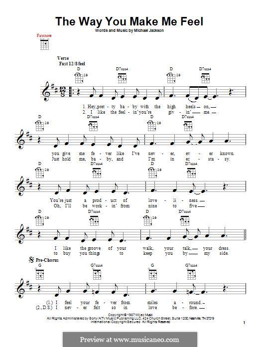 The Way You Make Me Feel: Für Ukulele by Michael Jackson