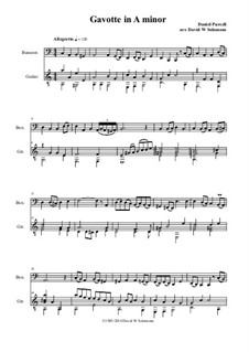 Gavotte in A Minor: For bassoon and guitar by Daniel Purcell