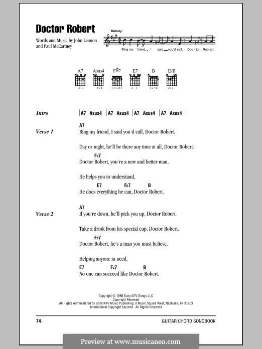 Doctor Robert (The Beatles): Text und Akkorde by John Lennon, Paul McCartney