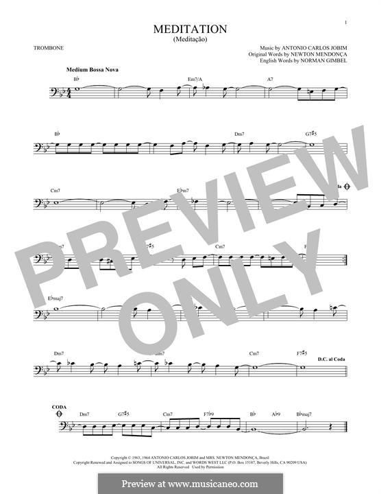 Meditation: For trombone by Antonio Carlos Jobim