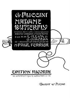 Madama Butterfly : Klavierauszug mit Singstimmen by Giacomo Puccini