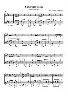 Sliwowitz-Polka: Für Flöte und Gitarre by folklore