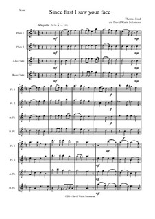 Since First I Saw Your Face: Für Flötenquartett by Thomas Ford