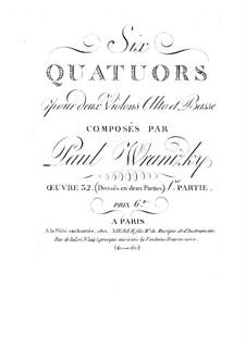 Sechs Streichquartette, Op.32: Quartette Nr.1-3 by Paul Wranitzky