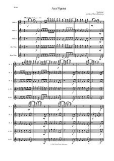 Aya Ngena: For flute quintet by folklore