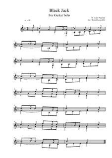 Black Jack: For guitar solo (F Major) by John Playford