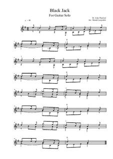 Black Jack: For guitar solo (G Major) by John Playford
