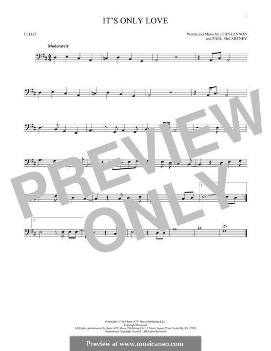 It Won't Be Long (The Beatles): Für Cello by John Lennon, Paul McCartney