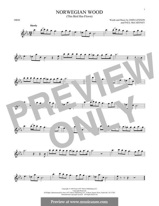 Norwegian Wood (This Bird Has Flown): For oboe by John Lennon, Paul McCartney