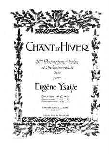 Chant d'hiver. Poem Nr.3, Op.15: Für Violine und Klavier – Violinstimme by Eugène Ysaÿe