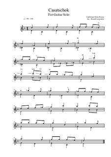 Casatschok - D-Minor (For Guitar Solo): Casatschok - D-Minor (For Guitar Solo) by folklore