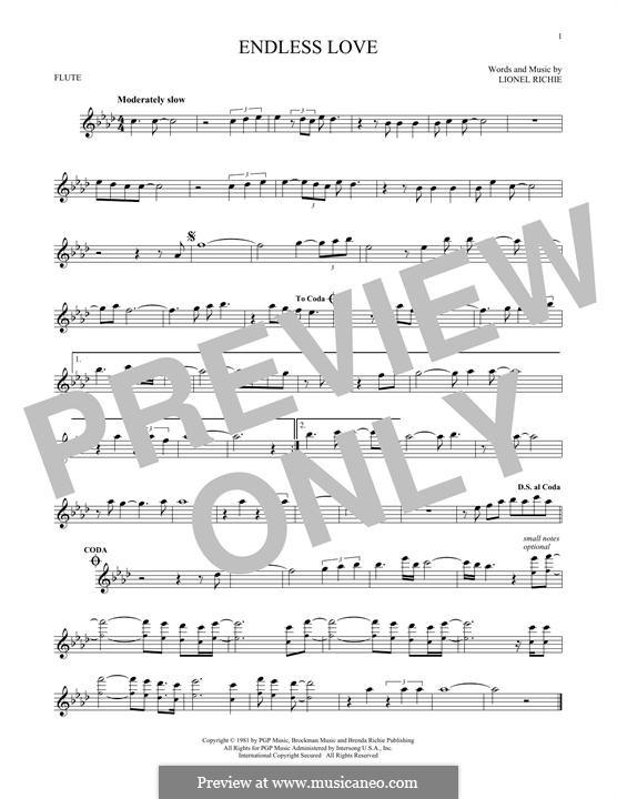 Endless Love: Für Flöte by Lionel Richie