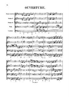 Orchestersuite Nr.2 in h-Moll, BWV 1067: Partitur by Johann Sebastian Bach