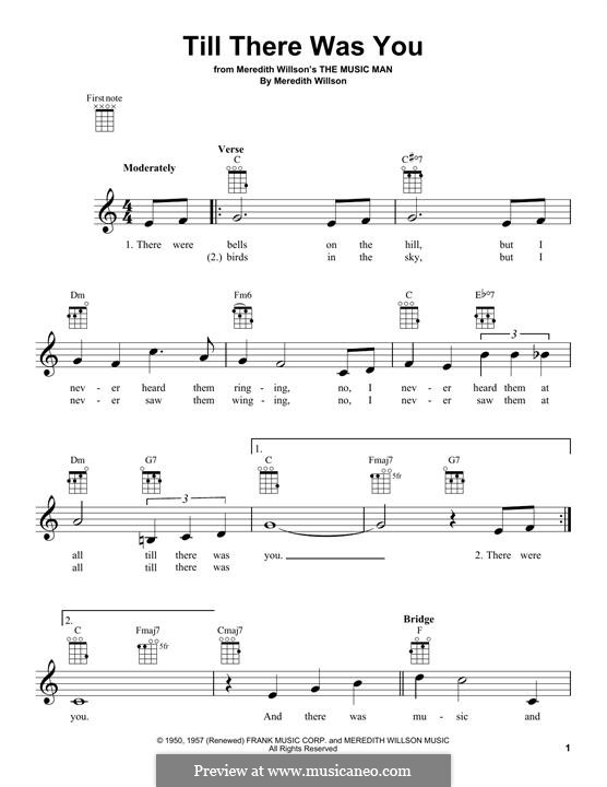 Till There Was You: Für Ukulele by Meredith Willson