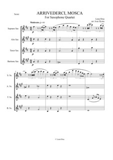 Arrivederci, Mosca!: For four saxaphones by Lena Orsa