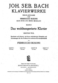 Ausgewählte Stücke: Teil I, BWV 846-857 by Johann Sebastian Bach