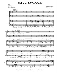Herbei o ihr Gläubigen: Duet for tenor and bass solo (with accompaniment track) by John Francis Wade
