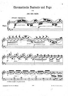 Chromatische Fantasie und Fuge in d-Moll, BWV 903: Bearbeitung für Klavier von H. Bülow by Johann Sebastian Bach