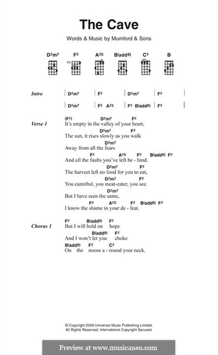 The Cave (Mumford & Sons): Text und Akkorde by Marcus Mumford