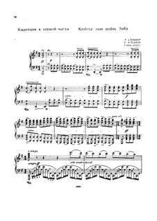 Kadenzen: Zum Teile I, III von E. d'Albert by Ludwig van Beethoven