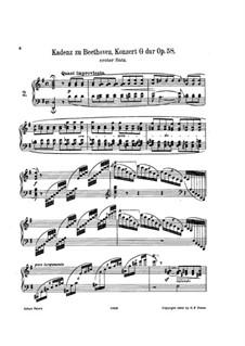Kadenzen: Zum Teile I, III von C. Schumann by Ludwig van Beethoven