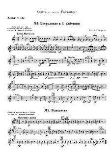 Raimonda, Op.57: Suite. Introduktion zum Szene I, Akt I – Stimmen by Alexander Glazunov