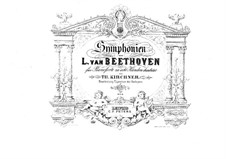 Vollständiger Sinfonie: Version für zwei Klaviere, achthändig, Klavierstimme II by Ludwig van Beethoven