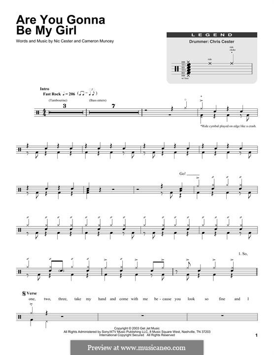 Are You Gonna Be My Girl (Jet): Drum set by Cameron Muncey, Nic Cester