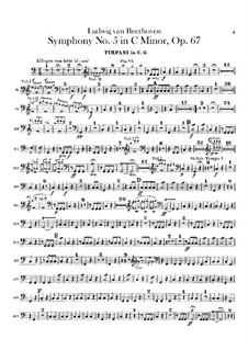 Vollständiger Sinfonie: Paukenstimme by Ludwig van Beethoven