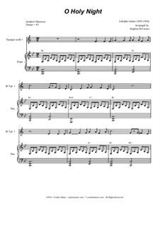 O hehre Nacht: Für Blechblasquintett by Adolphe Adam