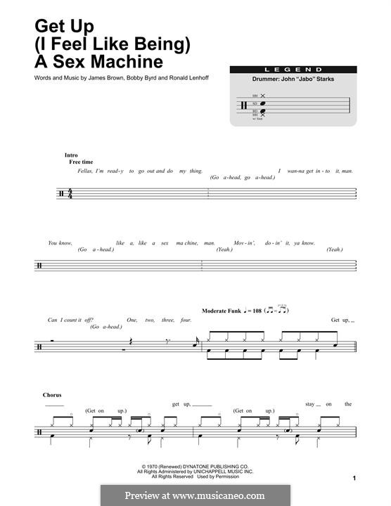Get Up (I Feel Like Being) A Sex Machine: Drum set by Bobby Byrd, James Brown, Ronald Lenhoff