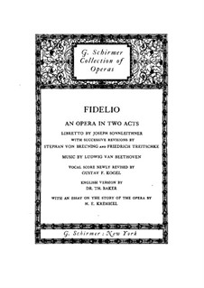 Fragmente: Akt I, Klavierauszug mit Singstimmen by Ludwig van Beethoven