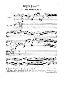 Vollständiger Konzert: Version für zwei Klaviere, vierhändig von F. Liszt by Ludwig van Beethoven