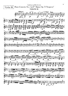 Vollständiger Konzert: Violinstimme II by Ludwig van Beethoven