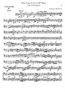Vollständiger Konzert: Cello- und Kontrabassstimme by Ludwig van Beethoven