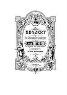Vollständiger Konzert: Version für zwei Klaviere, vierhändig von A. Ruthardt by Ludwig van Beethoven