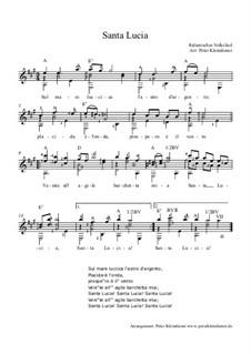 Santa Lucia: Für Gitarre by folklore
