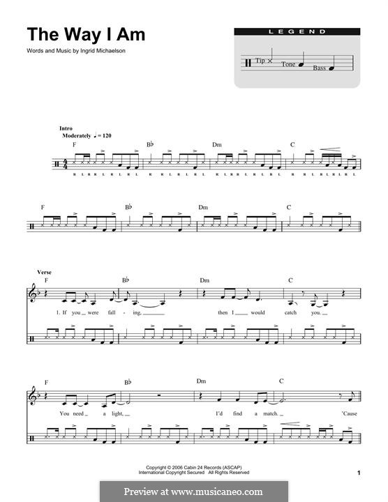 The Way I Am: Drum set by Ingrid Michaelson