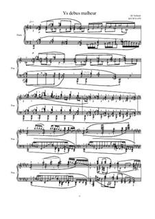 Ys debus malheur for piano, MVWV 1079: Ys debus malheur for piano by Maurice Verheul