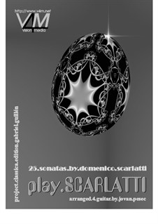 25 sonatas: Für Gitarre by Domenico Scarlatti
