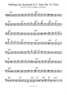 Take The 'A' Train Lesson: Exercise 1: Scales, Arpeggios and Chromatics by Jared Plane
