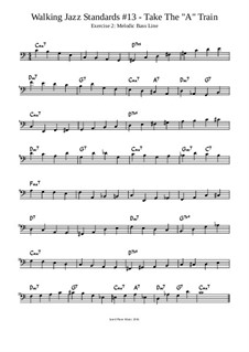 Take The 'A' Train Lesson: Exercise 2: Melodic Bass Line by Jared Plane