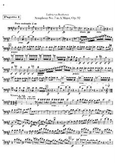 Vollständiger Sinfonie: Fagottstimmen by Ludwig van Beethoven