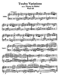 Zwölf Variationen über 'Menuett a la Vigano' aus 'Le nozze disturbate' von J. Haibel, WoO 68: Für Klavier by Ludwig van Beethoven