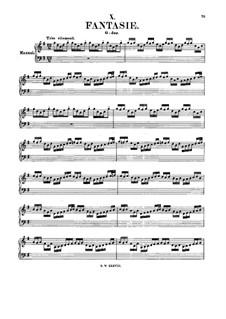 Fantasie in G-Dur, BWV 572: Für Orgel by Johann Sebastian Bach