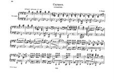 Vollständiger Oper: Ouvertüre, für Klavier, vierhändig by Georges Bizet