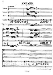 Vollständige Oper: Anhang by Wolfgang Amadeus Mozart