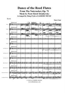 Nr.7 Tanz der Mirlitons: For flute choir by Pjotr Tschaikowski