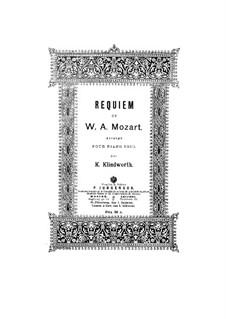 Vollständiger Teile: Für Klavier von K. Klindworth by Wolfgang Amadeus Mozart