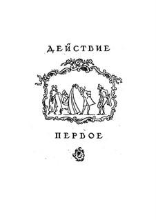 Vollständige Oper: Akt I, für Solisten, Chor und Klavier by Wolfgang Amadeus Mozart
